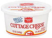 Meadow Gold Curd Cottage Cheese by Meadow Gold Cottage Cheese Small Curd 12 0 Oz Nutrition