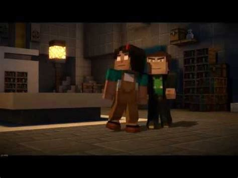 minecraft story mode : jesse's team vs aiden (funny fight