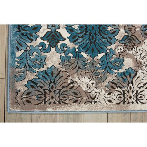 Ivory And Blue Area Rugs by World Menagerie Abrahamsville Ivory Blue Area Rug Wayfair