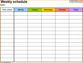 template for class schedule weekly class schedule template authorization letter pdf