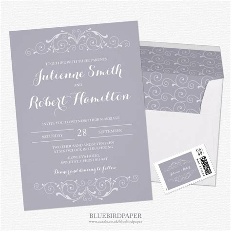 grey and white wedding invitations uk grand soiree a vintage lilac gray wedding invitations 2460270 weddbook
