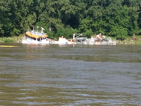 sunken river boats salvage of sunken towing vessel continues on upper
