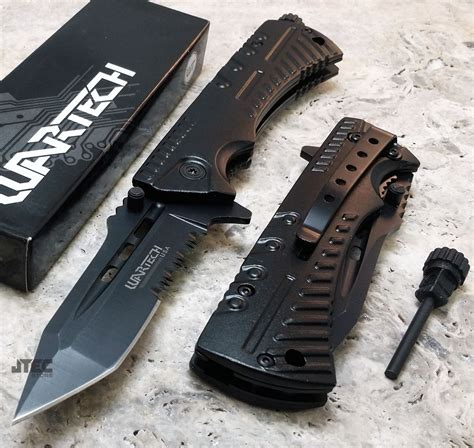 starter pocket knife wartech black assisted starter tanto folding pocket knife jt189 ebay