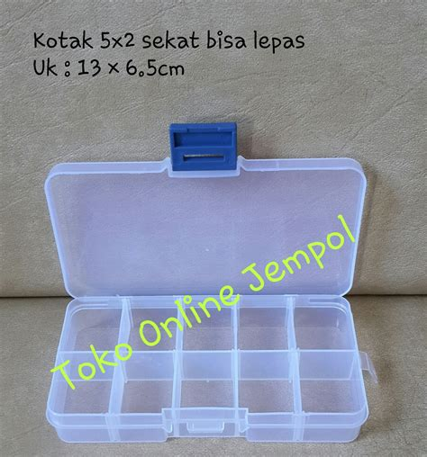 Promo Kotak Penyimpanan Plastik Mini 5 2 Kotak Murah jual 5x2 kotak kotak plastik transparant kotak penyimpanan perhiasan obat toko jempol