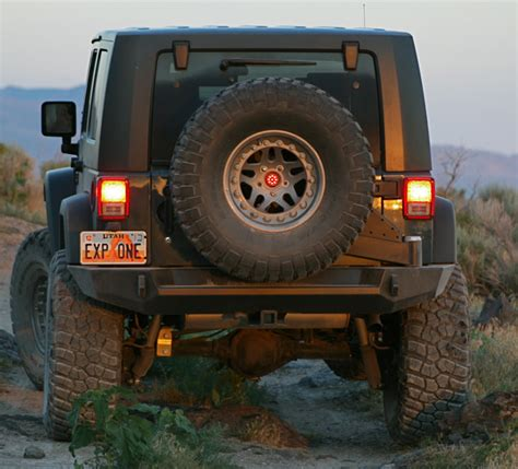 Jeep Jk Rear Bumpers Expedition One Jeep Jk Trail Series Rear Bumper Tire