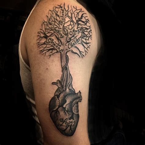 arm tattoo family tree family tree by luis garcia tattoonow