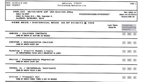 Medication Reconciliation Form Medication Reconciliation Infographic Medication Reconciliation Discharge Medication List Template