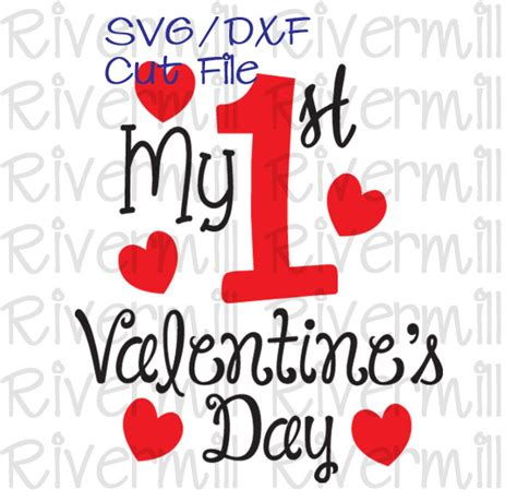1st valentines day svg dxf my s day cut file