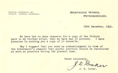 Resignation Letter Uncomfortable Work Environment Baker Perkins Ltd