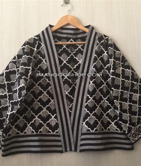 kimono outer batik mix tenun lurik imanggo ethnic