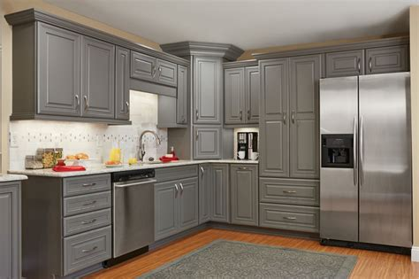 Popular Paint Colors For Kitchens master brand schrock galena gray kitchen cabinets