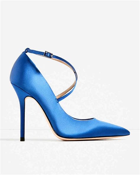 Navy Blue Satin Wedding Shoes by Closed Toe Evening Shoes To Rock For Your Winter Wedding