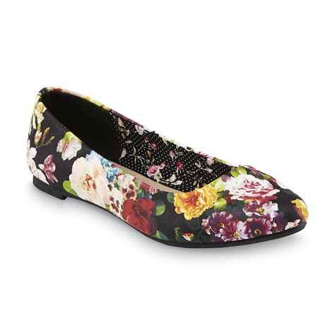flat floral shoes basic editions s celina floral print ballet flat