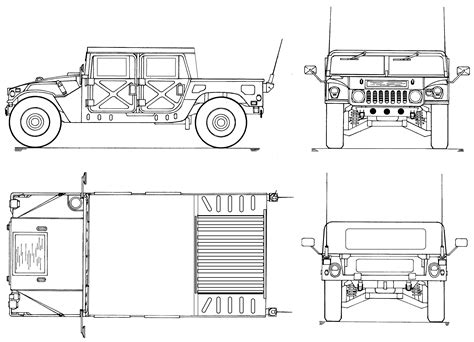 humvee blueprints hummer h2 sut blueprint download free blueprint for 3d