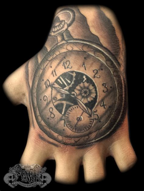 artisan tattoo pocketwatch by state of on deviantart