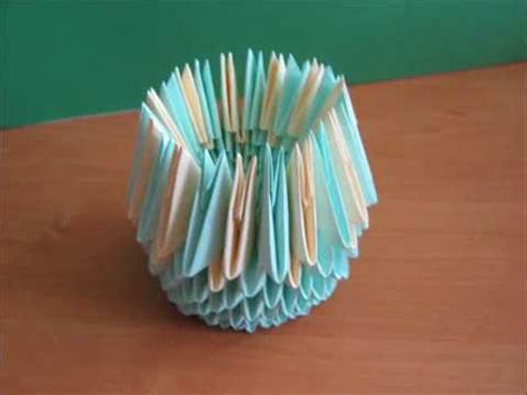 Modular Origami Vase - modular origami vase wmv