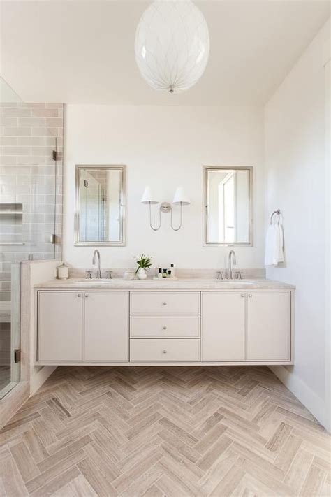stunning cream  taupe bathroom features  taupe wood