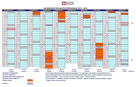 Calendario Scolastico Carmagnola All News Calendario Scolastico Regione