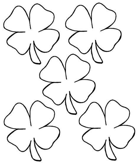Free Coloring Pages Of A 4 Leaf Clover Four Leaf Clover Color Page