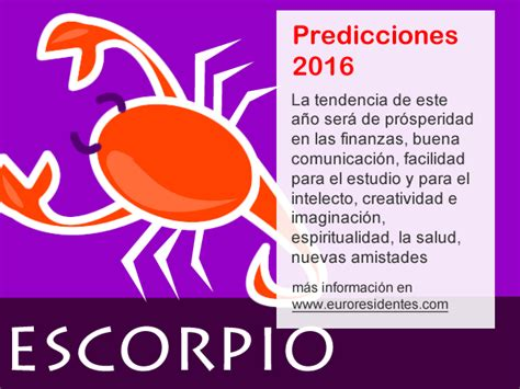 el horoscopo 2016 horscopos in hor 243 scopo escorpio 2016