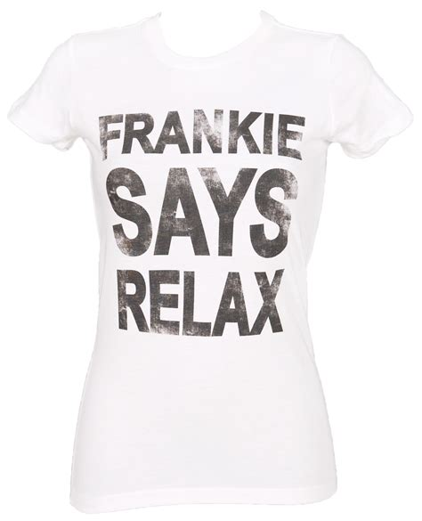 Relax T Shirt s white frankie says relax t shirt
