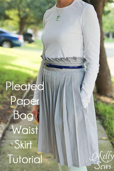 paper bag waist skirt pattern free pleated paper bag waist skirt tutorial melly sews