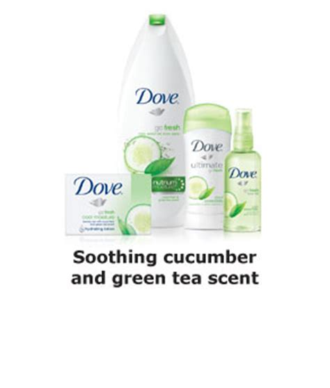 M Ultra Soothing Ad dove go fresh bar cucumber and green