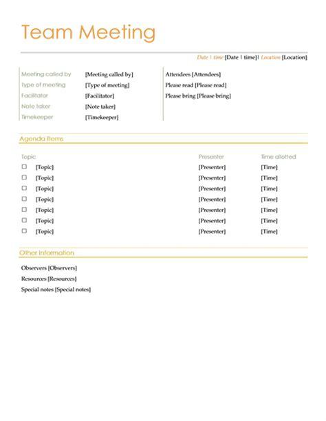 sales team meeting agenda template free team agenda book templates for microsoft