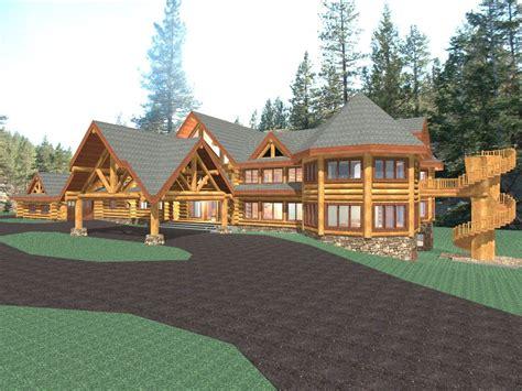 luxury log home plans luxury mountain log home plans