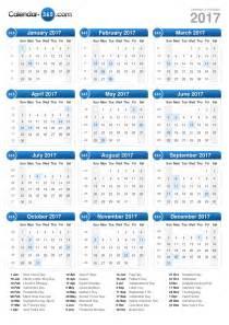 Ferie Zimowe 2018 Kalendarz 2017 Calendar
