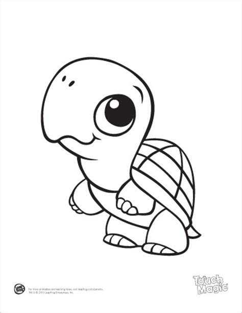 Leapfrog Printable Baby Animal Coloring Pages Turtle Leap Frog Coloring Pages