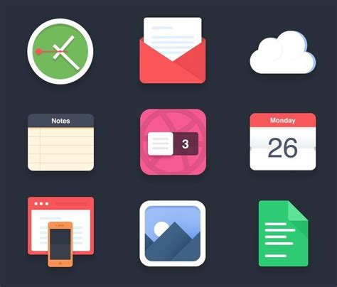 colored app free flat and colored app icon set psd titanui