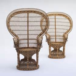 city furniture 2 rattan peacock chair 1970s wicker