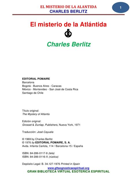 el misterio de la 19 04 berlitz charles el misterio de la atlantida www gftaognostic