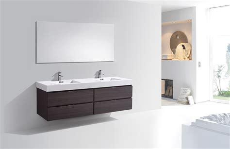 how high is a bathroom vanity bliss 72 high gloss gray oak wall mount double sink