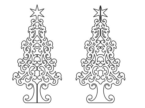 christmas dxf free tree 3d dxf plazcutz