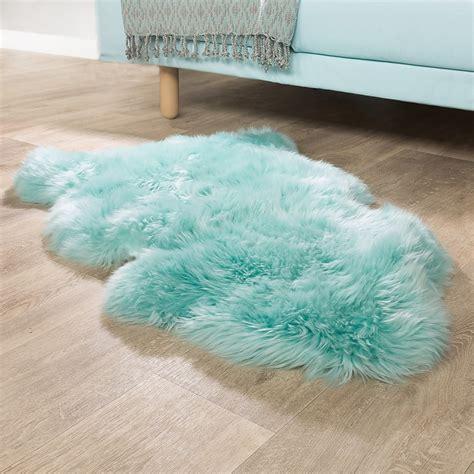 turquoise sheepskin rug australian lambskin fur bedside rug genuine sheepskin in pastel turquoise shag rugs