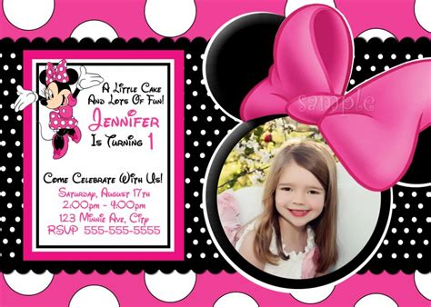 how to make minnie mouse invitation cards minnie mouse invitation card picture minnie mouse