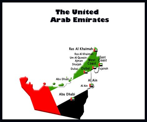 uae map the united arab emirates map atlanta