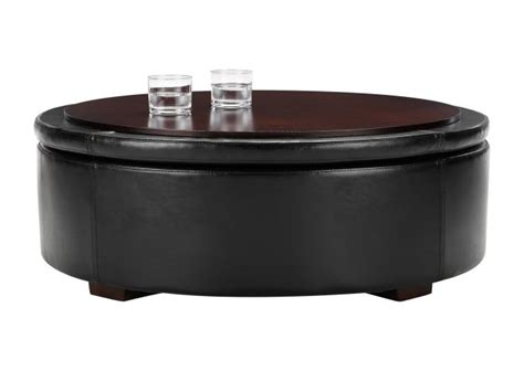 round leather storage ottoman coffee table round leather ottoman coffee table with storage unique