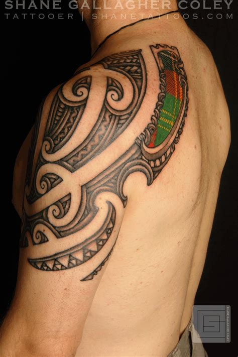 scotland tattoo shane tattoos maori scottish ta moko