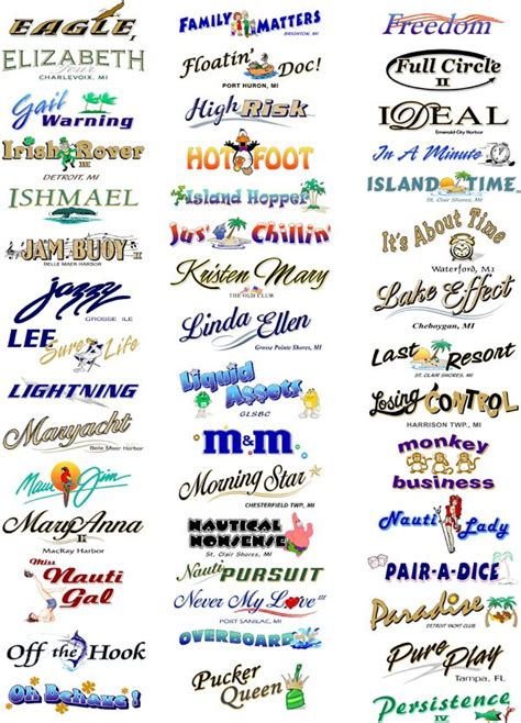 cool names for your house boat names custom decals fishing pinterest boating