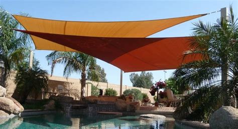 backyard sails swimming pool shade sails by tenshon llc