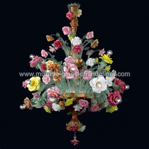 Murano Flower Chandelier Quot Beatrice Quot Lustre En Verre De Murano Murano Glass