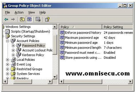 windows reset password history active directory domain user password policy