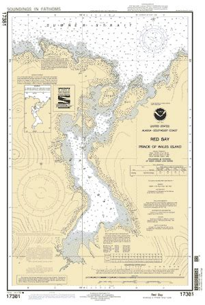red bay prince of wales island nautical chart ΝΟΑΑ
