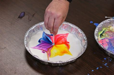 milk and food coloring milk and food coloring science project ideas