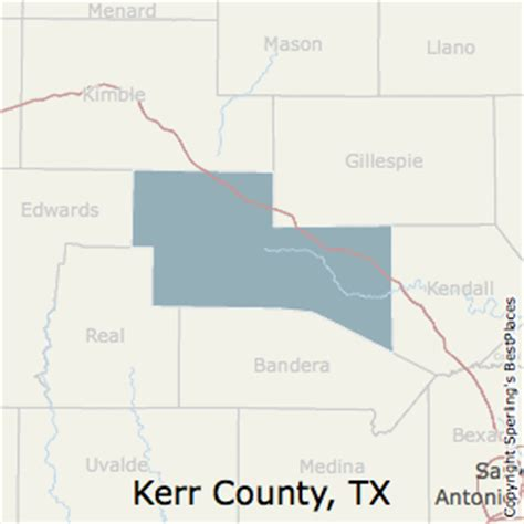 map of kerr county texas best places to live in kerr county texas