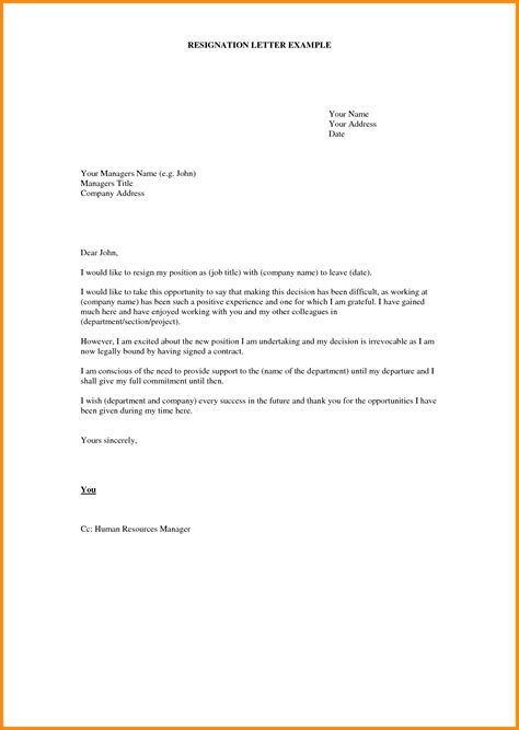 Format Of Resign Letter From Company by 9 Company Resignation Letter Format Driver Resume