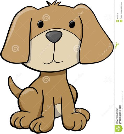 puppy illustration vector illustration royalty free stock image image 4045076